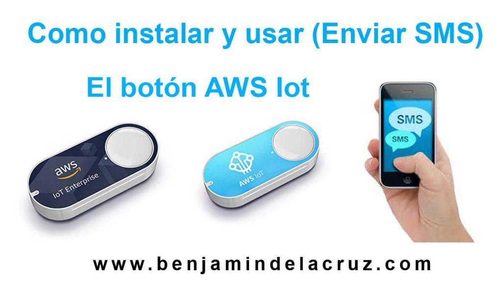 como instalar botón iot AWS