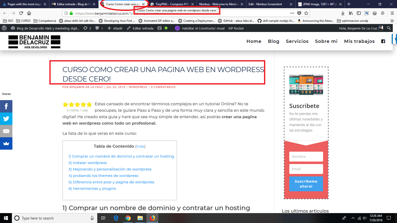 new post wordpress titulo